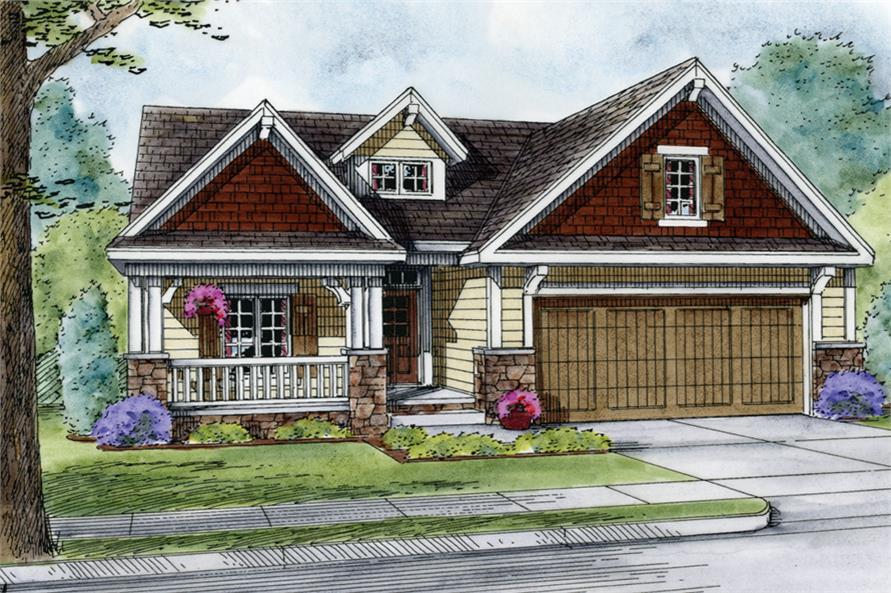 Home Plan Rendering of this 3-Bedroom,2407 Sq Ft Plan -2407