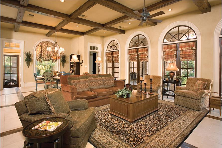 Family Room of this 6-Bedroom,9360 Sq Ft Plan -9360