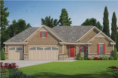2-Bedroom, 1436 Sq Ft Ranch Home Plan - 120-2532 - Main Exterior