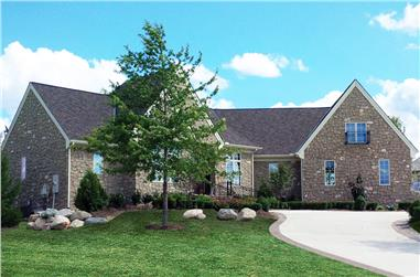 4-Bedroom, 3942 Sq Ft French House Plan - 120-2533 - Front Exterior