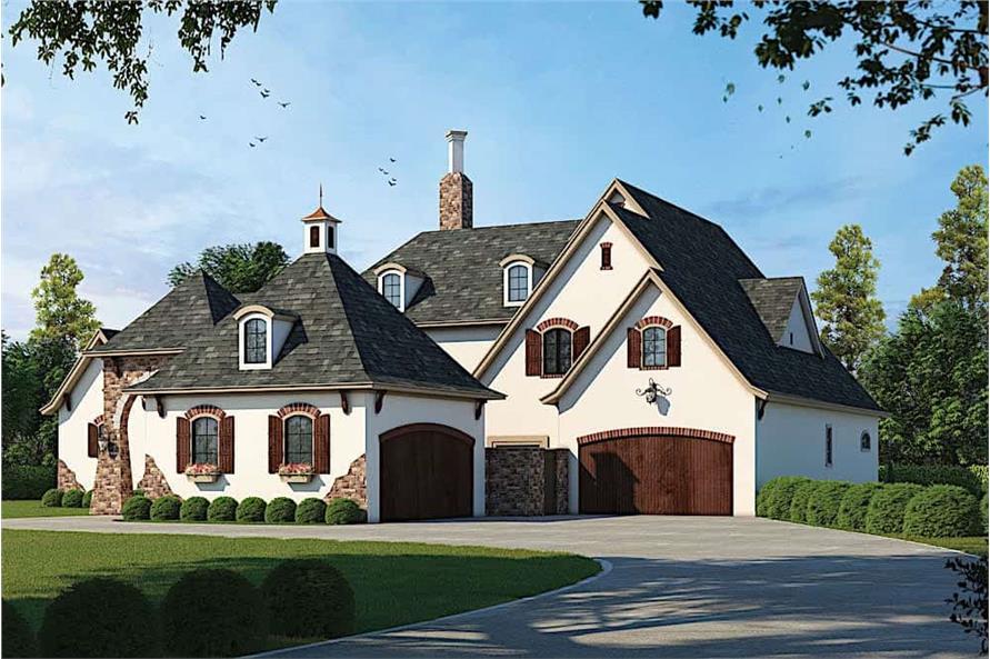 Home Plan Rendering of this 4-Bedroom,4629 Sq Ft Plan -120-2539