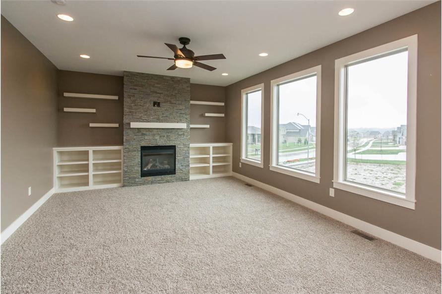 Living Room of this 4-Bedroom,2377 Sq Ft Plan -2377