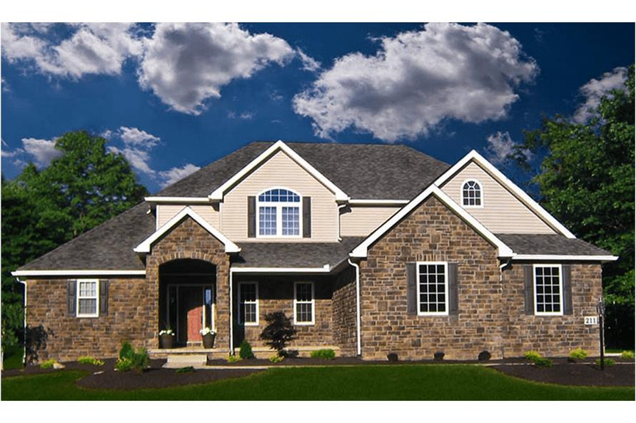 Home Exterior Photograph of this 4-Bedroom,2495 Sq Ft Plan -2495