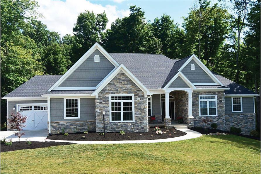 3-Bedroom, 2449 Sq Ft Country House - Plan #120-2548 - Front Exterior
