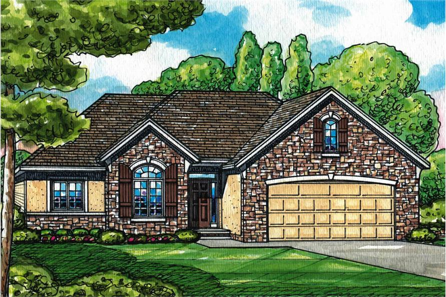 Home Plan Rendering of this 3-Bedroom,1568 Sq Ft Plan -120-2550