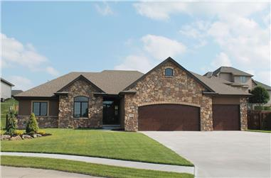 3-Bedroom, 1568 Sq Ft Country Home Plan - 120-2550 - Main Exterior