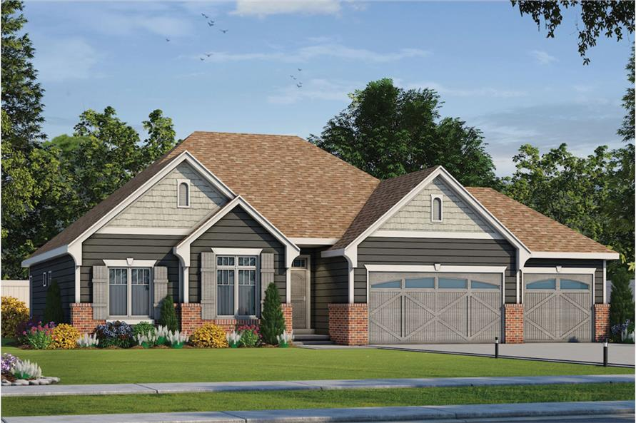 Home Plan Rendering of this 3-Bedroom,1635 Sq Ft Plan -1635