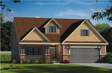 2-Bedroom, 1676 Sq Ft Craftsman Home Plan - 120-2554 - Main Exterior