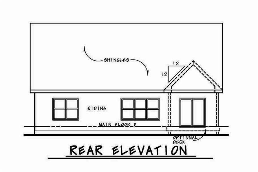 Home Plan Rear Elevation of this 4-Bedroom,2232 Sq Ft Plan -120-2555