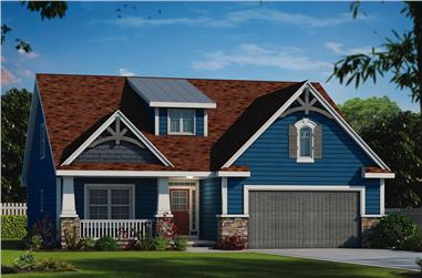 4-Bedroom, 2232 Sq Ft Craftsman Home Plan - 120-2555 - Main Exterior