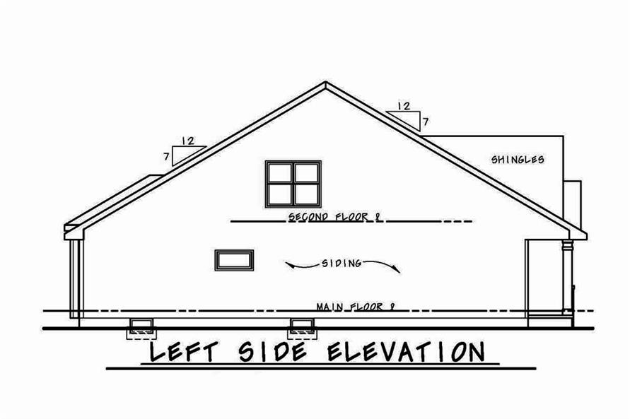 Home Plan Left Elevation of this 3-Bedroom,2113 Sq Ft Plan -120-2556