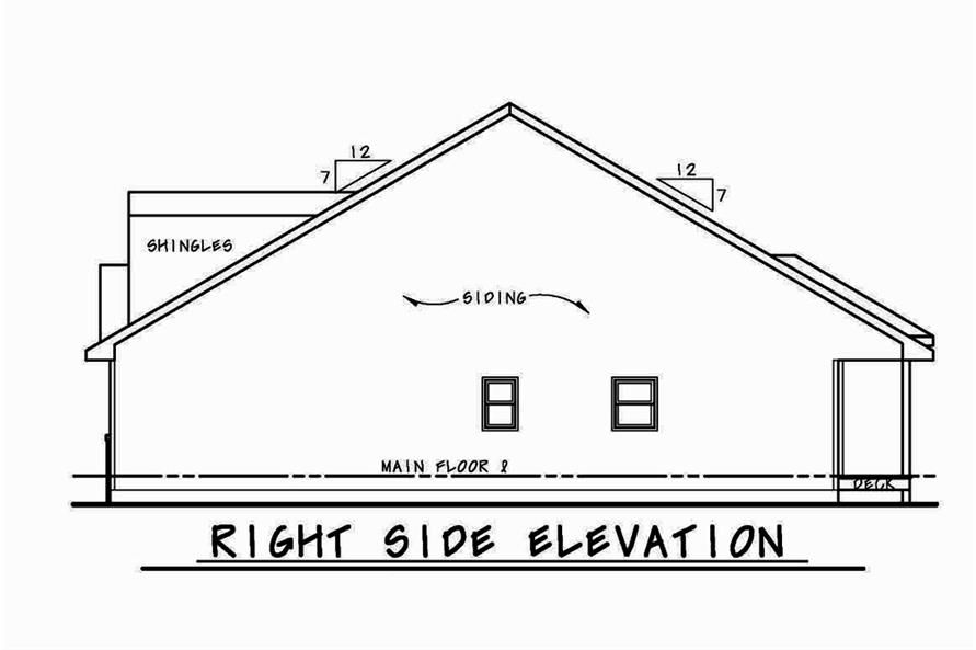 Home Plan Right Elevation of this 3-Bedroom,2113 Sq Ft Plan -120-2556