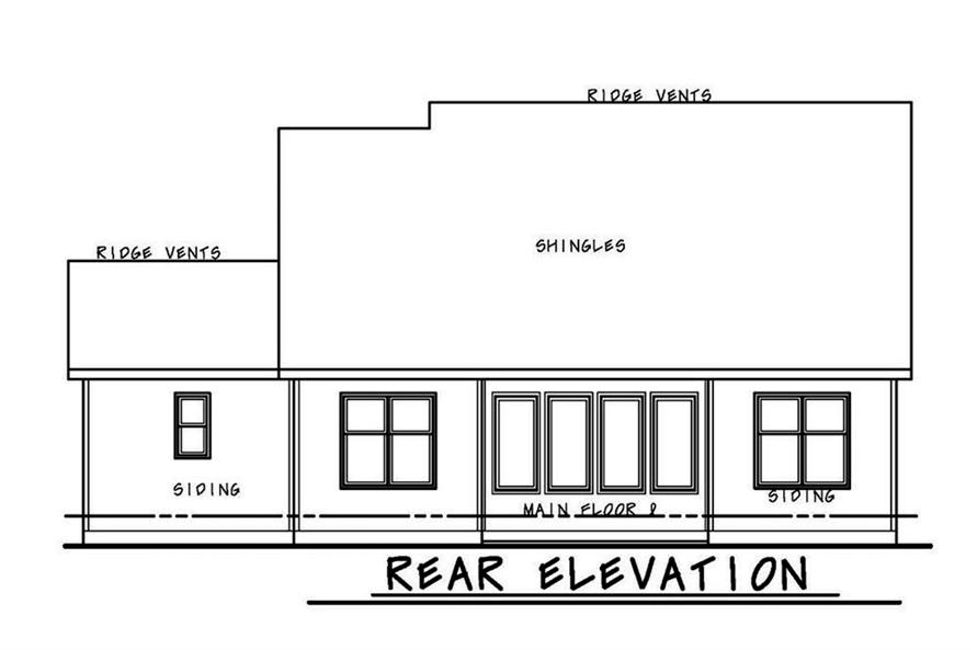 Home Plan Rear Elevation of this 3-Bedroom,1757 Sq Ft Plan -120-2560