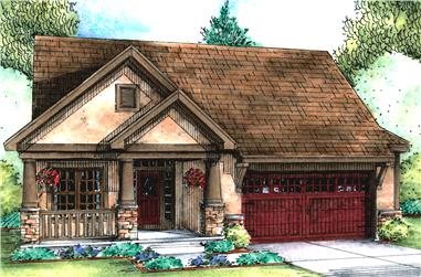 3-Bedroom, 1898 Sq Ft Cottage House Plan - 120-2561 - Front Exterior