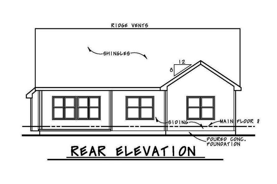 Home Plan Rear Elevation of this 3-Bedroom,2071 Sq Ft Plan -120-2562
