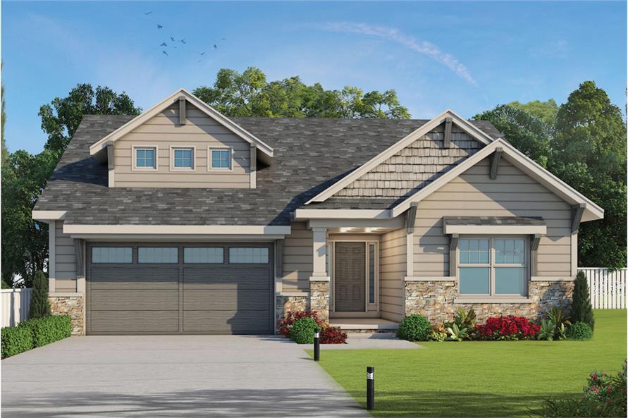 3-Bedroom, 2071 Sq Ft Craftsman House Plan - 120-2562 - Front Exterior