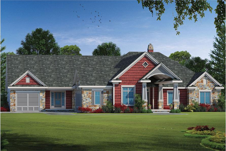 5-Bedroom, 3927 Sq Ft Traditional House Plan - 120-2566 - Front Exterior