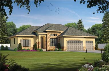 French home plan (ThePlanCollection: House Plan #120-2570)