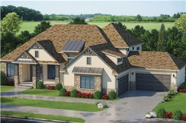3-Bedroom, 4140 Sq Ft Traditional Home Plan - 120-2572 - Main Exterior