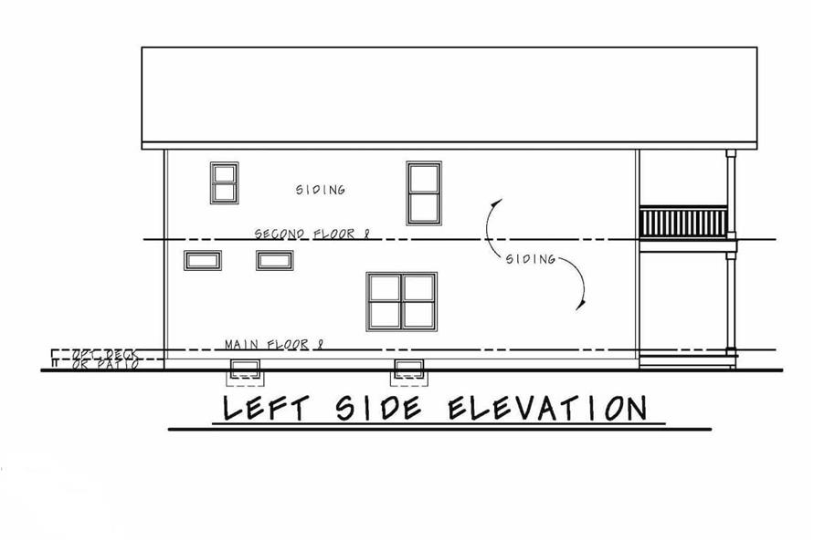 Home Plan Left Elevation of this 3-Bedroom,2388 Sq Ft Plan -120-2573
