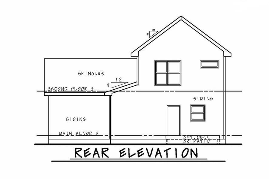 Home Plan Rear Elevation of this 3-Bedroom,2388 Sq Ft Plan -120-2573
