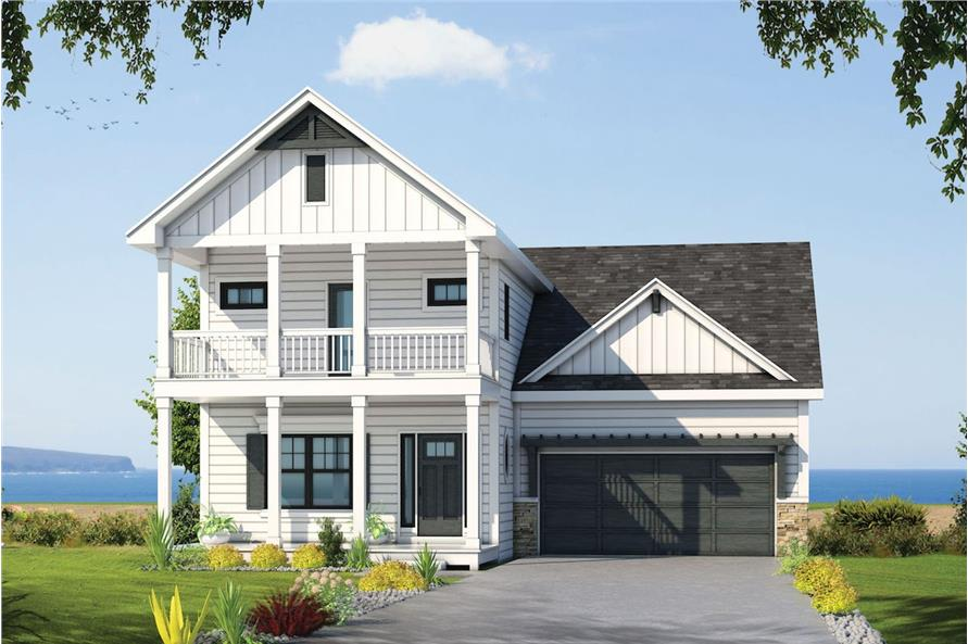 4-Bedroom, 2388 Sq Ft Coastal Home Plan - 120-2573 - Main Exterior