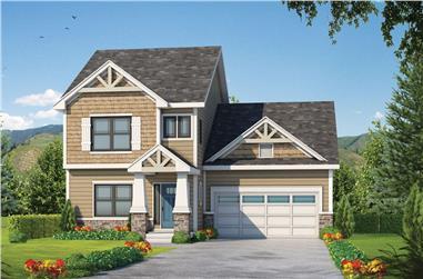 4-Bedroom, 2381 Sq Ft Craftsman House Plan - 120-2574 - Front Exterior