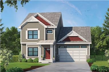 4-Bedroom, 2389 Sq Ft Traditional Home Plan - 120-2575 - Main Exterior