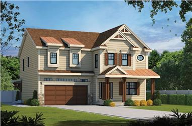 4-Bedroom, 2500 Sq Ft Cottage House - Plan #120-2580 - Front Exterior