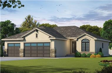 3-Bedroom, 1676 Sq Ft Contemporary Home - Plan #120-2587 - Main Exterior