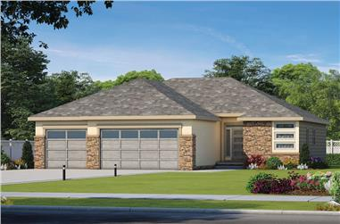 3-Bedroom, 1676 Sq Ft Contemporary Home Plan - 120-2588 - Main Exterior