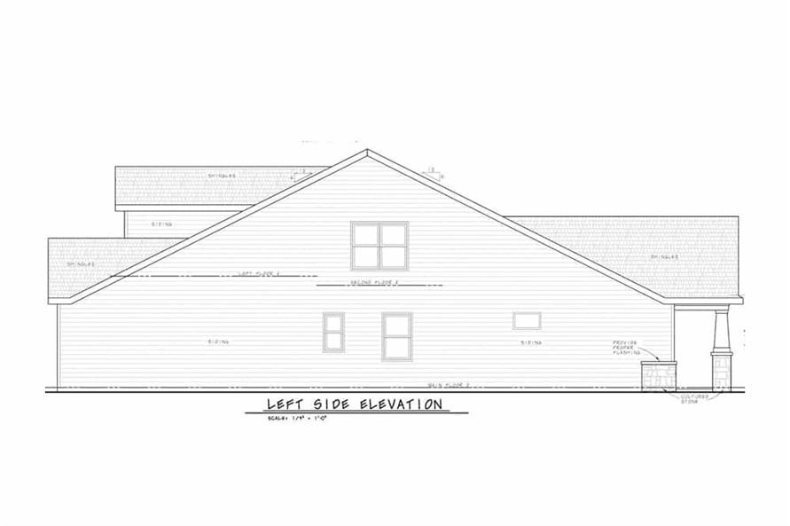 Home Plan Left Elevation of this 3-Bedroom,2666 Sq Ft Plan -120-2597