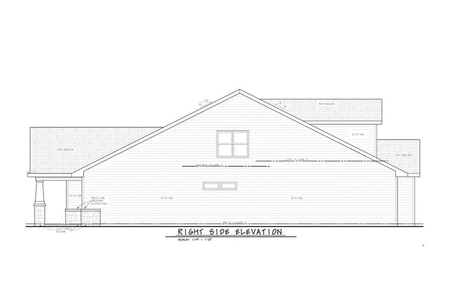 Home Plan Right Elevation of this 3-Bedroom,2666 Sq Ft Plan -120-2597