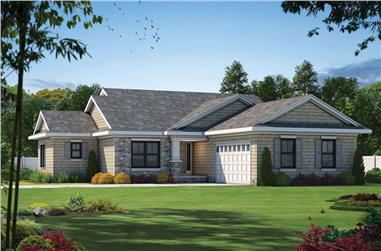 3-Bedroom, 1844 Sq Ft Cottage Home - Plan #120-2599 - Main Exterior