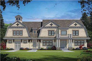 5-Bedroom, 6672 Sq Ft Luxury House Plan - 120-2600 - Front Exterior