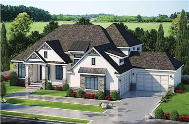 5-Bedroom, 6524 Sq Ft Farmhouse House Plan - 120-2605 - Front Exterior