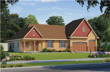 4-Bedroom, 3704 Sq Ft Contemporary House Plan - 120-2610 - Front Exterior