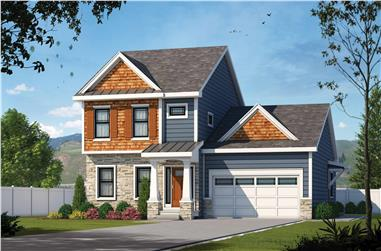 4-Bedroom, 2338 Sq Ft Contemporary House Plan - 120-2611 - Front Exterior