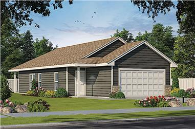 2-Bedroom, 1327 Sq Ft Ranch House Plan - 120-2615 - Front Exterior