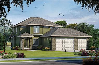 5-Bedroom, 3296 Sq Ft Farmhouse Home Plan - 120-2617 - Main Exterior