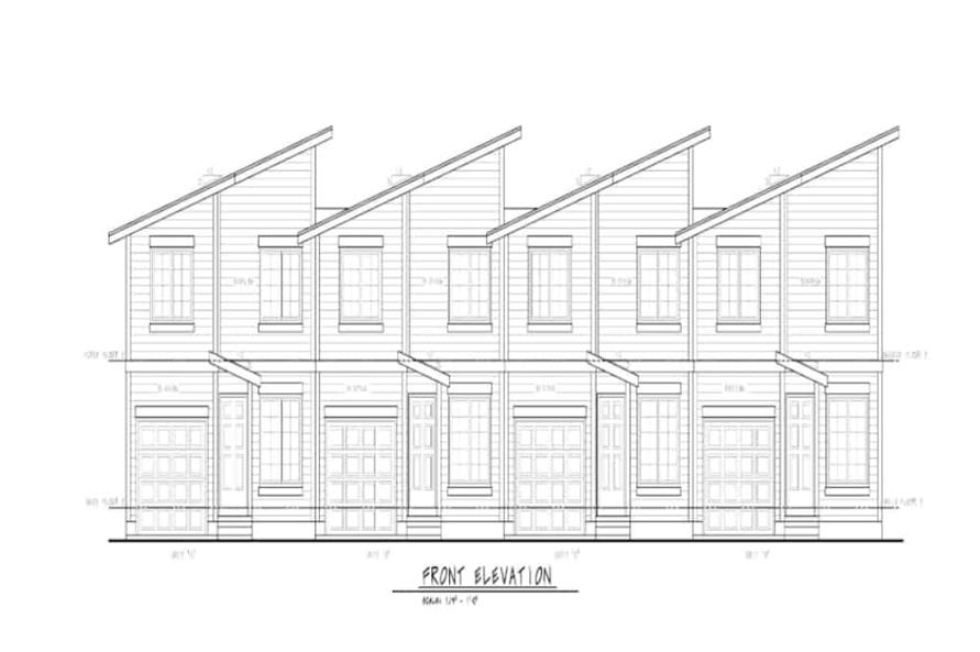 Home Plan Front Elevation of this 3-Bedroom,1277 Sq Ft Plan -120-2621