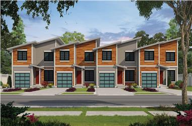 3-Bedroom, 1277 Sq Ft Per Unit Multi-Unit Home - Plan #120-2621 - Main Exterior