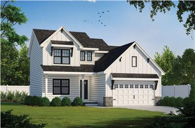 3-Bedroom, 2077 Sq Ft Farmhouse House - Plan #120-2624 - Front Exterior