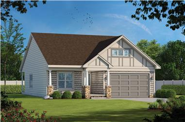 2-Bedroom, 1733 Sq Ft Ranch House -Plan #120-2625 - Front Exterior