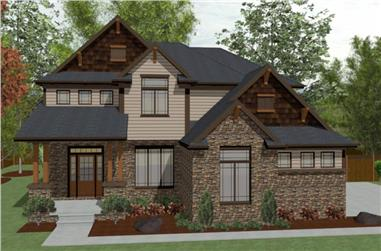 4-Bedroom, 2158 Sq Ft Country Home Plan - 120-2628 - Main Exterior