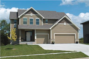 4-Bedroom, 2195 Sq Ft Traditional Home - Plan #120-2632 - Main Exterior