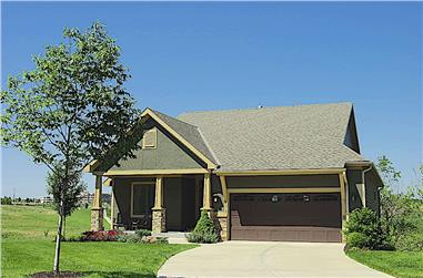 2-Bedroom, 1596 Sq Ft Cottage Home Plan - 120-2633 - Main Exterior
