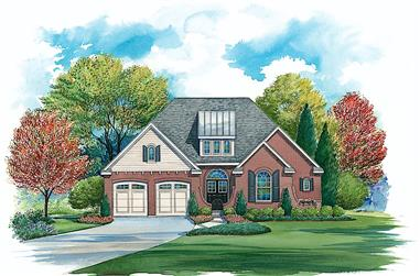 4-Bedroom, 4342 Sq Ft Colonial Home - Plan #120-2634 - Main Exterior