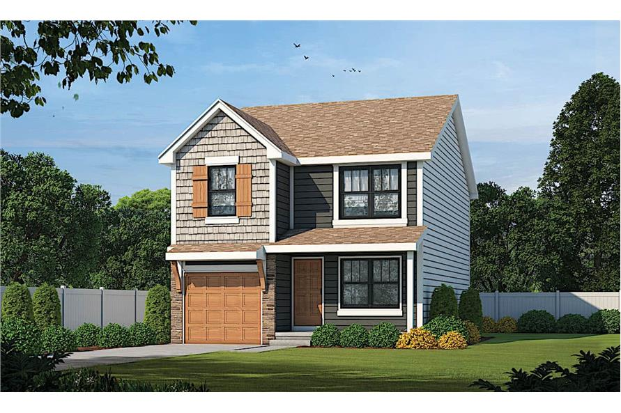 3–4-Bedroom, 1540 Sq Ft Traditional House - Plan #120-2635 - Front Exterior