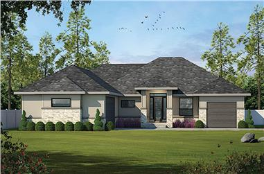 2-Bedroom, 2228 Sq Ft Contemporary Home - Plan 120-2636 - Main Exterior